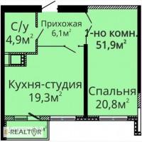 Продам 1-но комн. квартиру в ЖК Альтаир-2