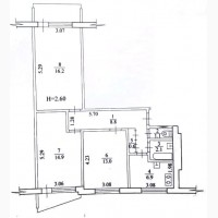 Продам 3-комнатную квартиру на Салтовке, 607 мкр-н