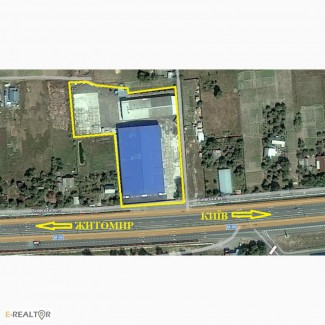 Продам складской комплекс 4 000 м2 в Калиновке фасад трассы Е40, Макаровский район