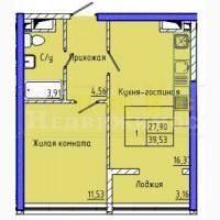 Однокомнатная квартира ЖК 45 Жемчужина Каманина / Аркадия