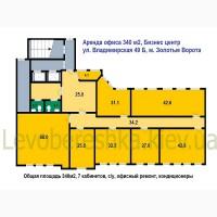 БЕЗ % Аренда офиса 340м2, м.Золотые Ворота Бизнес центр