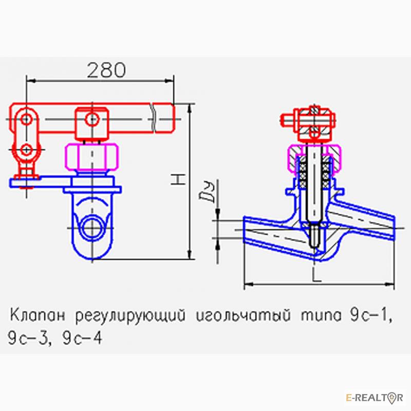 Клапан игольчатый 9с-4-1-1