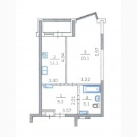 Продам 1-комнатную квартиру по ул. Драгоманова 2-Б